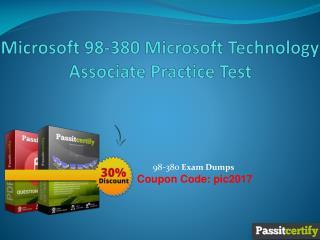 Microsoft 98-380 Microsoft Technology Associate Practice Test