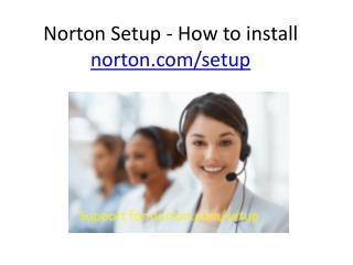 Norton Setup - How to install norton.com/setup