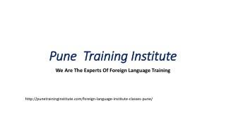 Foreign Language Courses - Classes in Pune | | Pune Training Institute