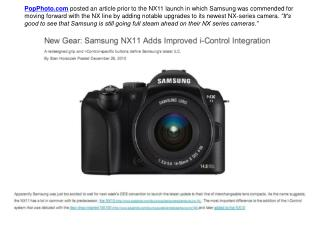 PopPhoto.com Posted an Article: Samsung NX series