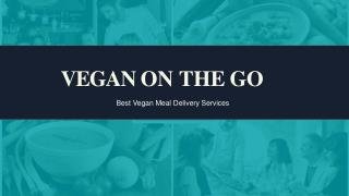 Vegetarian Food Delivery - Vegan on the go