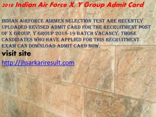 2018 Indian Air Force X, Y Group Admit Card