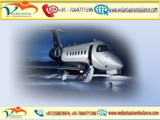 Vedanta Air Ambulance from Kolkata to Delhi, at an Economical Price