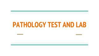 VDRL test & Stool Culture