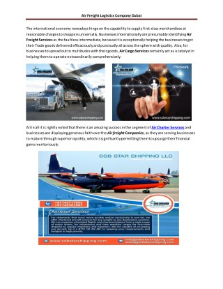 Air freight logistic company