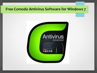 Free Comodo Antivirus Software for Windows 7