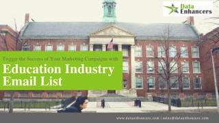 Education Industry Email List   Education Industry Mailing List