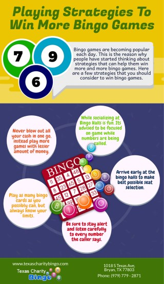 Playing Strategies To Win More Bingo Games