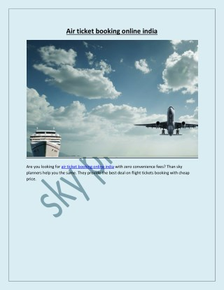 air ticket booking online india