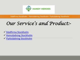 Stadfirma Stockholm - Hemstadning Stockholm- Flyttstadning Stockholm