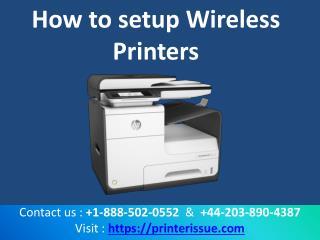 How to setup wireless printer
