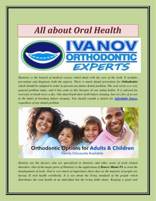 All about Oral Health