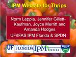 IPM Website for Thrips