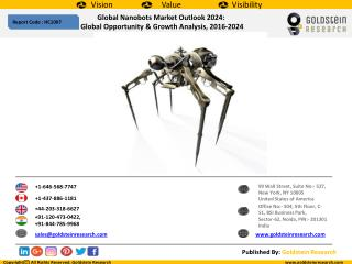 Global Nanobots Market Outlook 2024:  Global Opportunity & Growth Analysis, 2016-2024