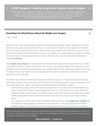 Everything You Should Know About the Weight Loss Surgery