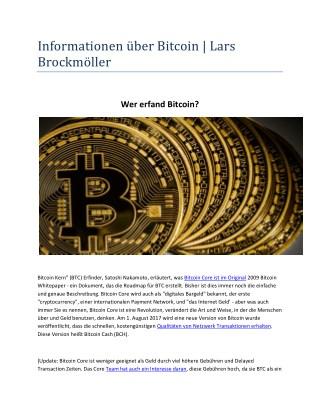 Bitcoin Hamburg - Lars Brockmöller