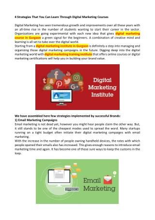 digital marketing training in Gurgaon