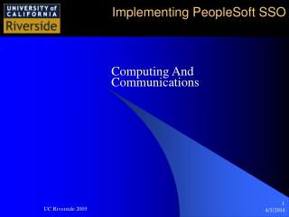 Implementing PeopleSoft SSO