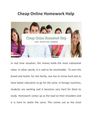 Cheap online homework help | Online Assigment Help