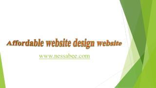 Affordable website design website
