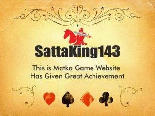 SATTA MATKA | KALYAN MATKA | SATTA KING