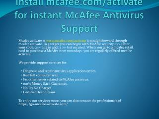 MCafee Activate - Download & Install