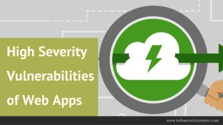 High Severity Vulnerabilities of Web Apps