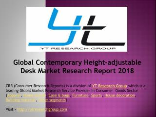 Global Contemporary Height-adjustable Desk Market Research Report 2018