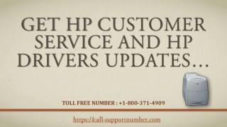 Get HP Customer Service and HP Drivers Updates