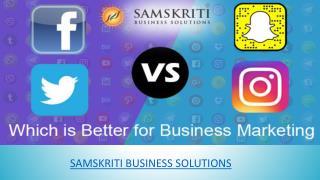 Instagram vs Facebook vs Twitter vs Snapchat: Which is Better for Business Marketing