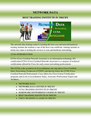NETWORK DATA CENTER IN TRICHY