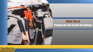 Basic Tips to Prolong the Life of Your Car Battery