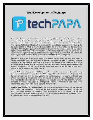 Web Development – Techpapa
