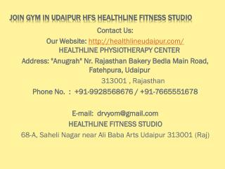 Join Gym in Udaipur HFS Healthline Fitness Studio