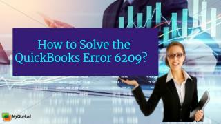 How to Solve the QuickBooks Error 6209?