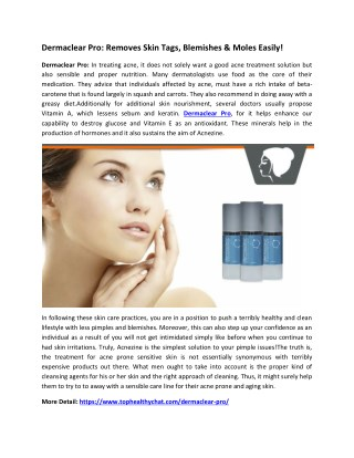 Dermaclear Pro: Remove Wrinkle & Dead skin cells Naturally!