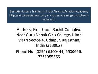 Best Air Hostess Training in India Airwing Aviation Academy