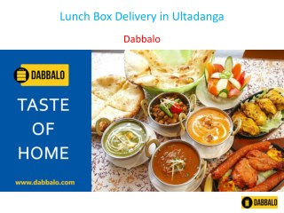 Lunch Box Delivery in Ultadanga