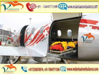Vedanta Air Ambulance from Guwahati to Delhi is 365 days Available