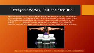 Testogen Reviews, Cost and Free Trial