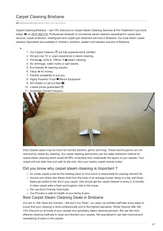 All Kind of Carpets Steam Cleaning