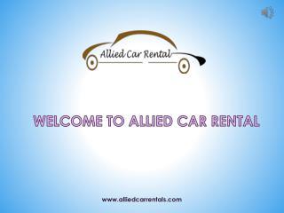 Car Rental Service Providers in Pune - Allied Car Rental