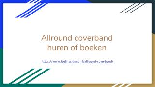 Allround coverband huren of boeken