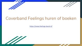 Coverband Feelings huren of boeken