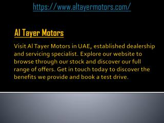 Car Dealers UAE | Altayer Motors
