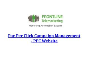Pay Per Click Campaign Management - PPC Website