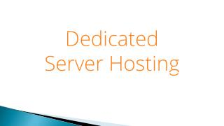 Dedicated Server Hosting Worth Buying ?