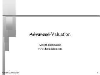 Advanced  Valuation