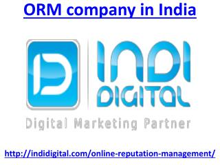 Looking for best orm company in India