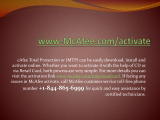 www.mcafee.com/activate | Setup & Activate